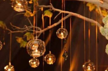 how to decorate candle jars Hanging candle holder