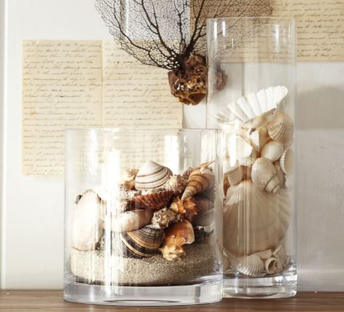 how to decorate candles home decor sea shell