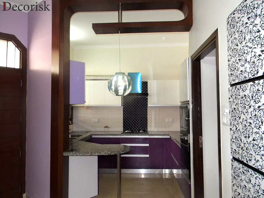 kitchen purple white modern house interior designs pictures