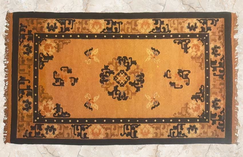 Chinese-2 yellow rug design oriental