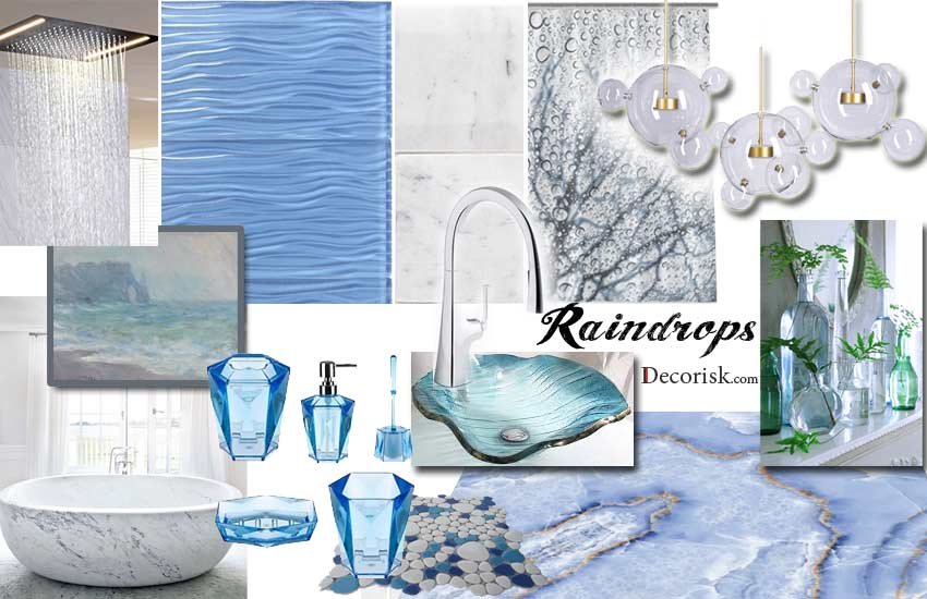 blue-raindrops Bathroom Color Schemes cool ideas
