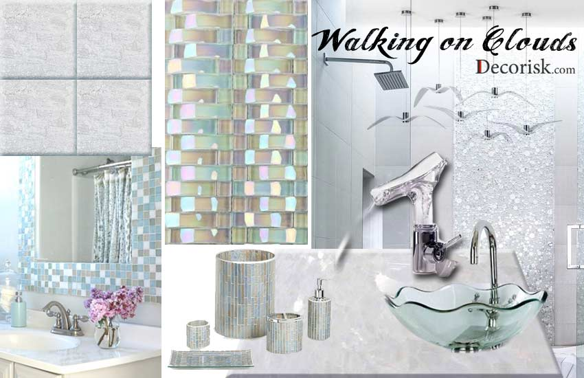cloudy-white bathroom decor ideas silver modern luxury