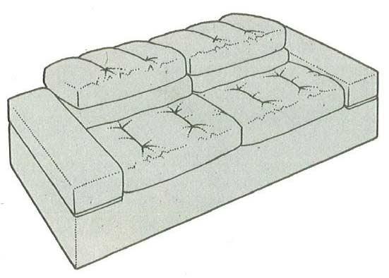 cushioned-sofa