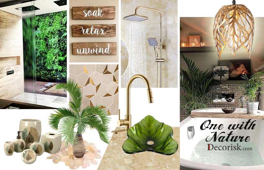 greens simple Bathroom Color Schemes neutral tones