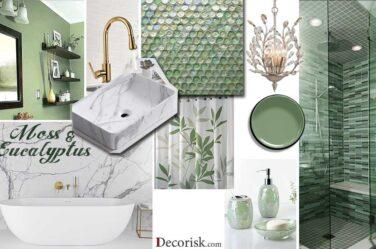 olive-moss-green Bathroom Color Schemes light colors