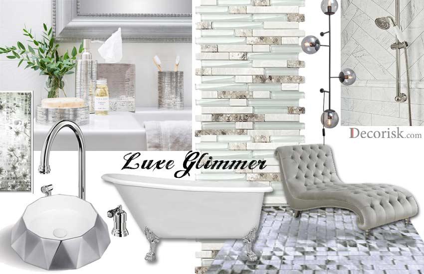 silver-glam Bathroom Color Schemes white luxury contemporary