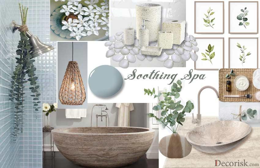 spa-theme Bathroom Color Schemes pale blue light