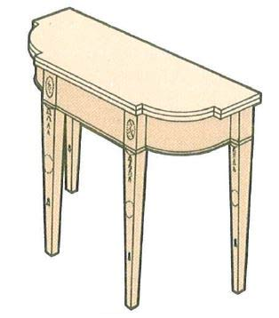 american-console-table