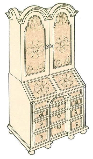 dutch-bureau-bookcase