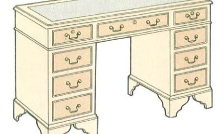 mahagony-knee-hole-desk